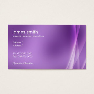 Professional Modern Abstract Purple Business Card