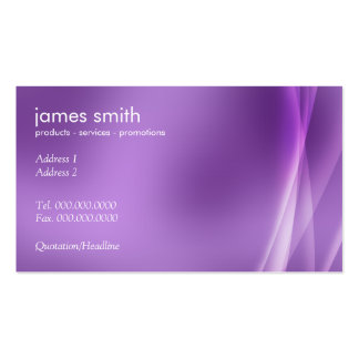 Professional Modern Abstract Purple Business Cards