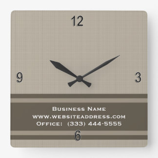 Professional Modern Beige Brown Square Wall Clock