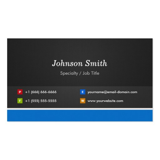 Professional Modern Black and Blue Corporate Business Cards