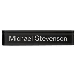 Professional Modern Black Business Desk Nameplate