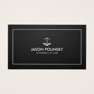 Professional & Modern Black & Silver Attorney Business Card