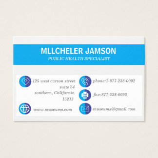 Professional Modern Blue Simple Business Card