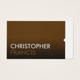 Professional modern brown business card
