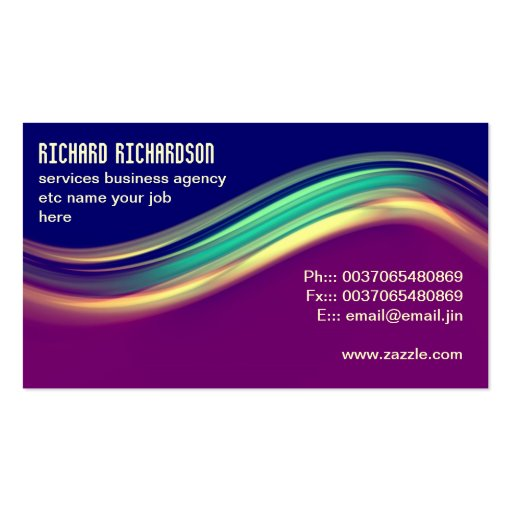 professional modern business card design : Zazzle