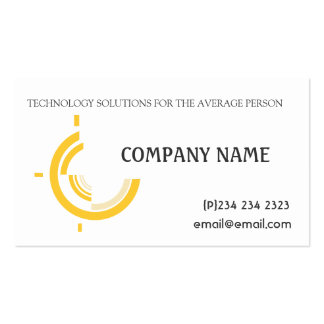 Professional Modern  Business Hi-Tech Tri on White Business Card
