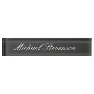 Professional Modern Chic Business Desk Nameplate