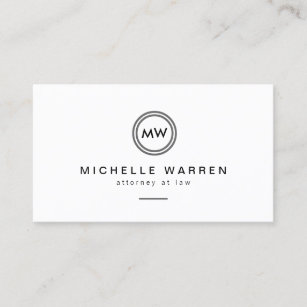 Legal business cards 1900 legal business card templates professional modern circle monogram initials business card colourmoves