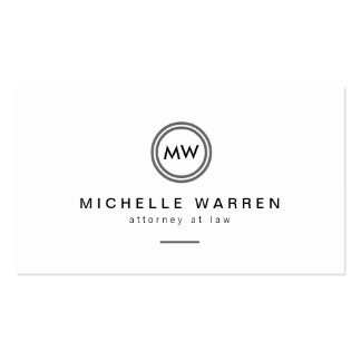 Professional Modern Circle Monogram Initials Double-Sided Standard Business Cards (Pack Of 100)