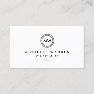 Monogram iphone cases zazzle professional modern circle monogram initials business card colourmoves