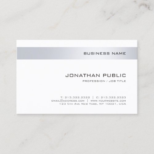 Professional Modern Company Simple Template Business Card