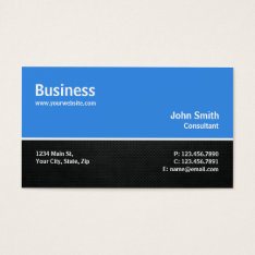Professional Modern Computer Repair Blue Plain Business Card at Zazzle