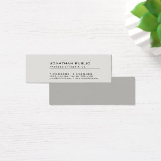 Professional Modern Creative Elegant Grey Plain Mini Business Card