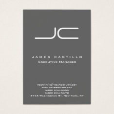 Professional Modern Dim Gray Monogram Business Card at Zazzle