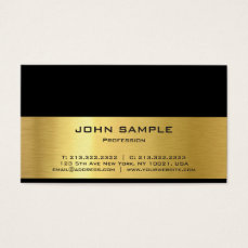 Professional Modern Elegant Black and Gold Gloss Business Card