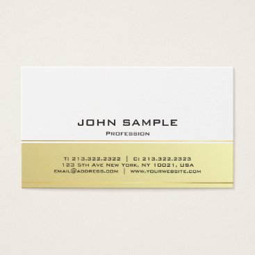 Beach Themed Professional Modern Elegant Black and Gold Matte Business Card