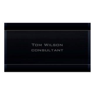 Professional  modern elegant  black business card