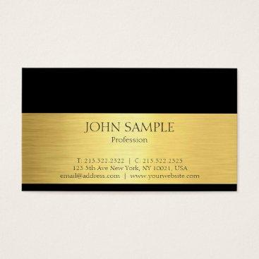 Wedding Themed Professional Modern Elegant Black Gold Luxury Business Card