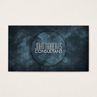 Professional modern elegant blue polygon pattern business card