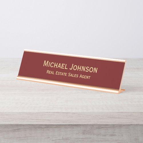 Professional Modern Elegant Business Office Title Desk Name Plate