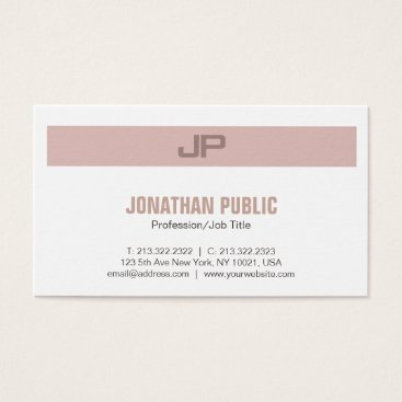 Lawyer Themed Professional Modern Elegant Colors Monogram Business Card