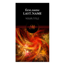 pattern, monogram, simple, custom, abstract, colorful, unique, fire, firefighter, fireman, Business Card with custom graphic design