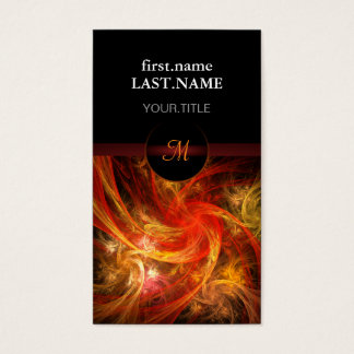 Professional Modern Elegant Cool Firestorm Nova Business Card