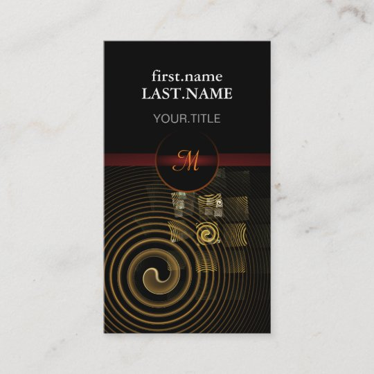 Professional Modern Elegant Cool Hypnosis Business Card Zazzle