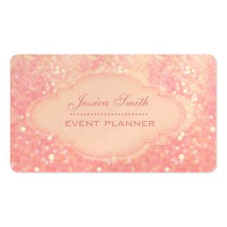 Professional modern elegant glitter bokeh business card