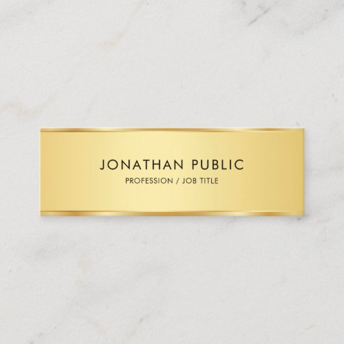 Professional Modern Elegant Gold Simple Template Mini Business Card