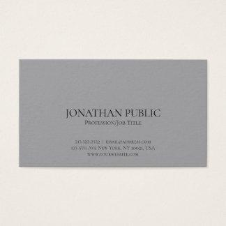 Professional Modern Elegant Grey Simple Plain Business Card