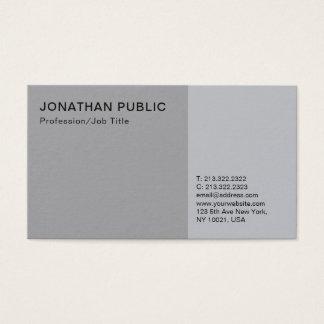 Professional Modern Elegant Grey Smart Plain Business Card