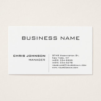 Professional modern elegant minimalist business card