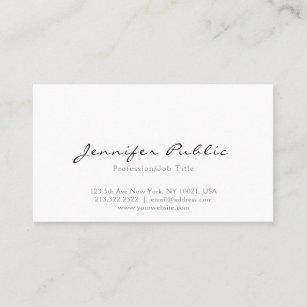 Modern business cards templates zazzle professional modern elegant white simple plain business card colourmoves
