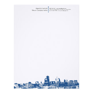 Professional modern general business cityscape… letterhead