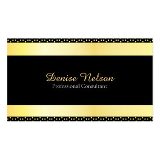 Professional Modern Gold and black Business Card