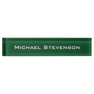 Professional Modern Green Business Desk Nameplate
