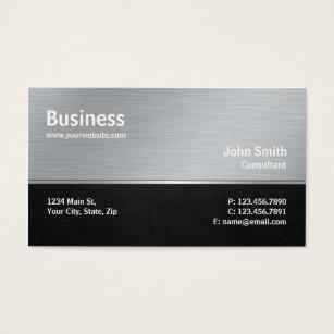 Computer repair business cards templates zazzle professional modern metal silver computer repair business card colourmoves