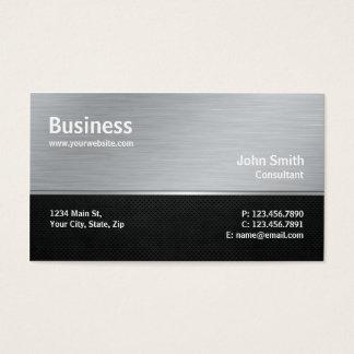 Professional Modern Metal Silver Computer Repair Business Card