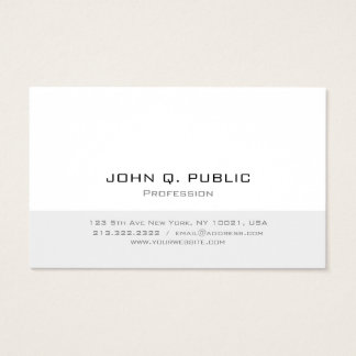 Professional Modern Minimalist Simple Design Business Card