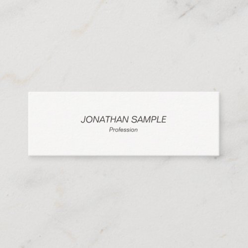 Professional Modern Minimalist Simple Design Mini Business Card