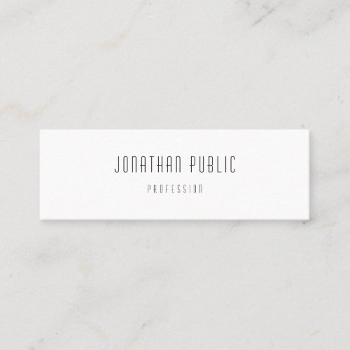 Professional Modern Minimalist Template Elegant Mini Business Card