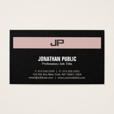 Lawyer Themed Professional Modern Monogram Elegant Colors Business Card