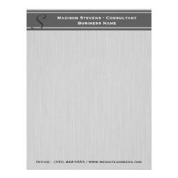 Professional Modern Monogram Gray Letterhead