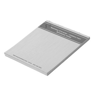 Professional Modern Monogram Gray Notepad