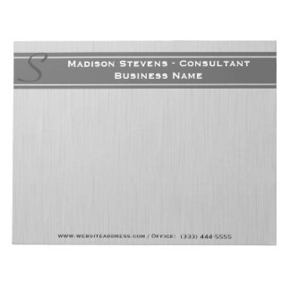 Professional Modern Monogram Gray Notepad