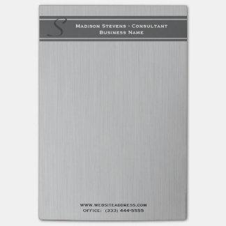 Professional Modern Monogram Gray Post-it® Notes