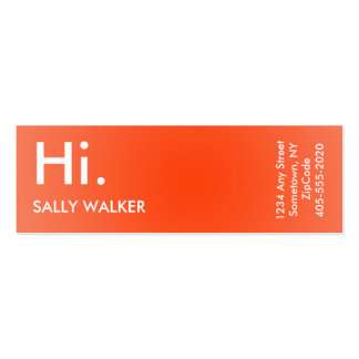 Professional Modern orange mini business cards