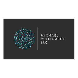 Professional Modern Particles Dots Blue Logo Double-Sided Standard Business Cards (Pack Of 100)