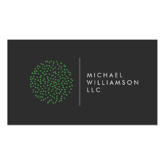 Professional Modern Particles Dots Green Logo Business Card Template